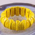 "Free Shipping Fashion Jewelry Yellow Stretch Turquoise Bracelet 8"" 1Pcs H1150"