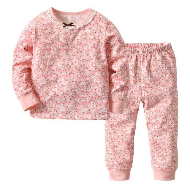 7b79d28e1 Boys Girls Thermal Underwear Winter Children s Round Neck Long ...