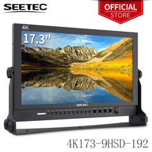 Seetec 4K173 9HSD 192 (Original P173 9HSD) 17,3 Zoll IPS Aluminium 1920x1080 FHD 3G SDI HDMI 4K Broadcast Monitor mit AV YPbPr