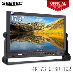 Seetec 4K173 9HSD 192 (oryginalny P173 9HSD) 17.3 Cal IPS aluminium 1920x1080 FHD 3G SDI HDMI 4K Monitor nadawczy z AV YPbPr 4k monitor hdmi monitormonitor with hdmi -