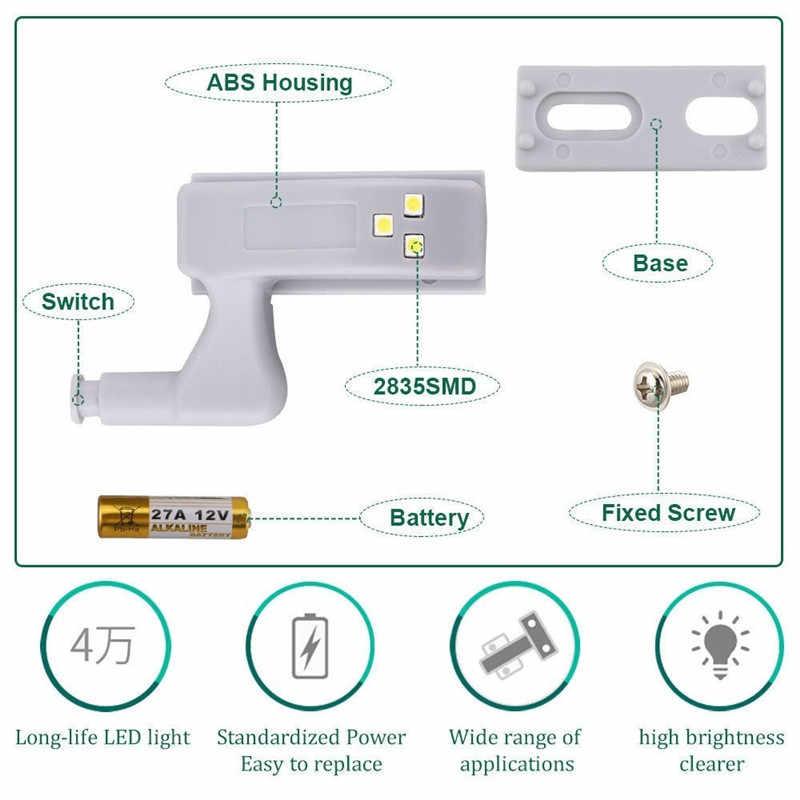 JSEX 5 шт. светодиодный шарнир шкафа светодиодный датчик света luz armario лампа для платяного шкафа ночник Шкаф Дверь лампа кухня освещение лампада @ 1