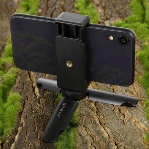 Image 5 - Mini Telefono portatile Treppiede Da Tavolo Smartphone Supporto del Supporto Della Clip Del Basamento Del Supporto con vite da 1/4 di pollice per il iphone X/8/ 7 più Huawei Xiaomi