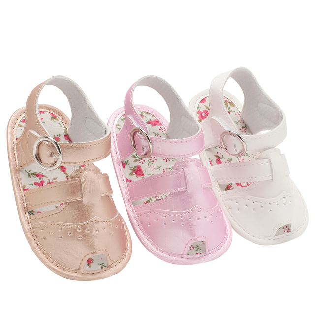 Baby Sandals PU Baby Girl Shoes 0-18 Month Newborn Hollowing Fashion Girl  Infant 7 Color Boy Shoes 2018 Summer Girl Sandals
