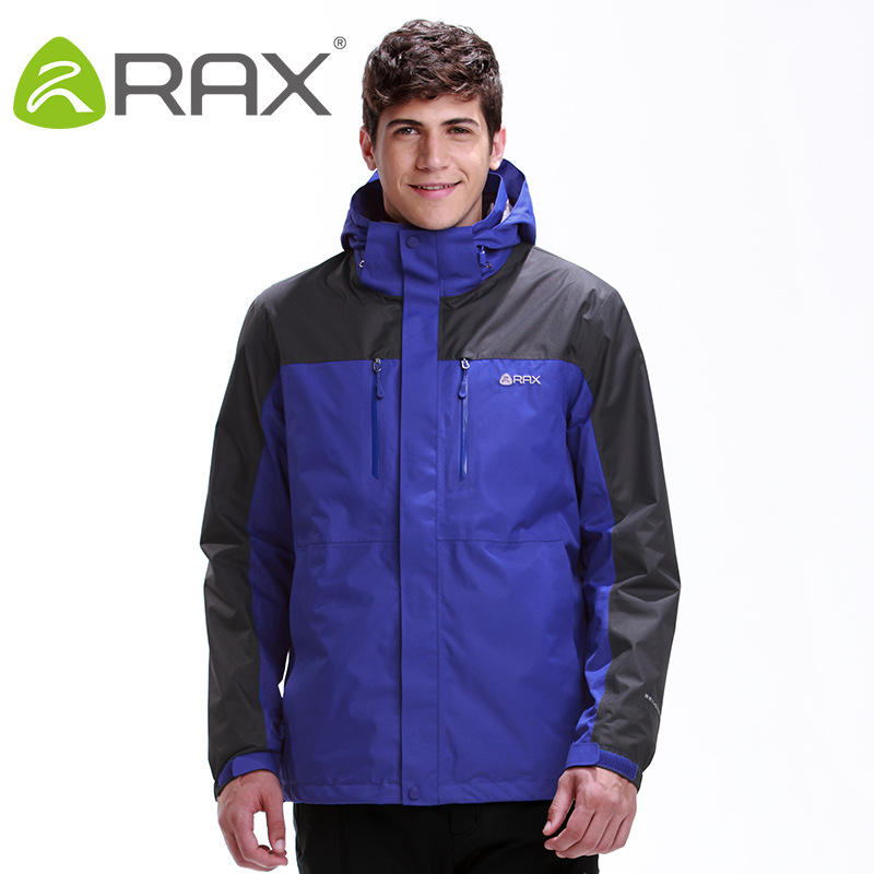 Rax Winter Outdoor Waterproof Hiking Jacket For Men Fleece Windbreaker Windproof Softshell Jacket Men's Thermal Rain Jackets Men in yeson brand winter outdoor windbreaker for lovers waterproof thick thermal fleece liner ski hunting hiking jacket men women