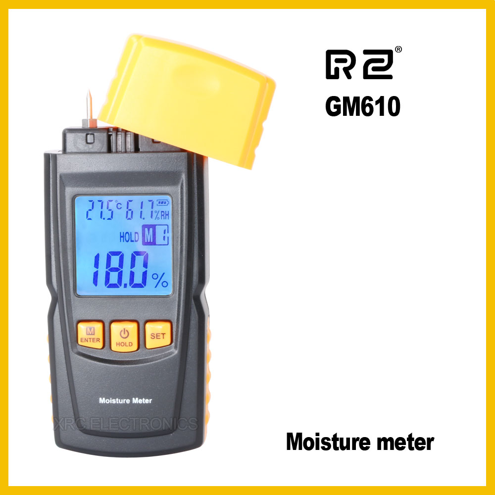 Rz handheld wood moisture meter with fine design gm610 in for Wood floor moisture meter