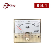 Ac ammeter pointer 85l1-a small direct mounted mechanical ammeter head 1ma-50a through milliammeter ma 50ma 100A 150/5a 400/5a цена и фото