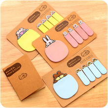 36 pcs/Lot Kawaii animal memo pad Color index sticky notes Cute stationery items Office accessories School supplies FM570 domikee classic vintage craft hardcover office school spiral notebooks set stationery includes pen index memo pad accessories a5