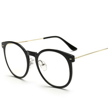 2016 new women's glasses frame Eyeglasses large Metal Optical frame clear Glasses prescription eyewear color high quality