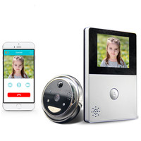 Cobell HD Battery WiFi Doorbell Cloud Storage 2 8 Inch Door Peephole PIR Night Vision