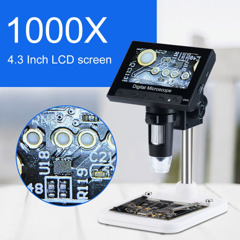 1000X Digital Microscope Camera Video 720p with 4.3 LCD Screen & Holder & 8 Led1000X Digital Microscope Camera Video 720p with 4.3 LCD Screen & Holder & 8 Led