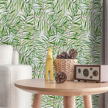 Green Tropical Leaves Removable Wall Sticker Removable Art Vinyl Mural for Bedroom Livingroom Home Decor Wallpaper Waterproof chic green leaves pattern wall sticker for bedroom livingroom decoration