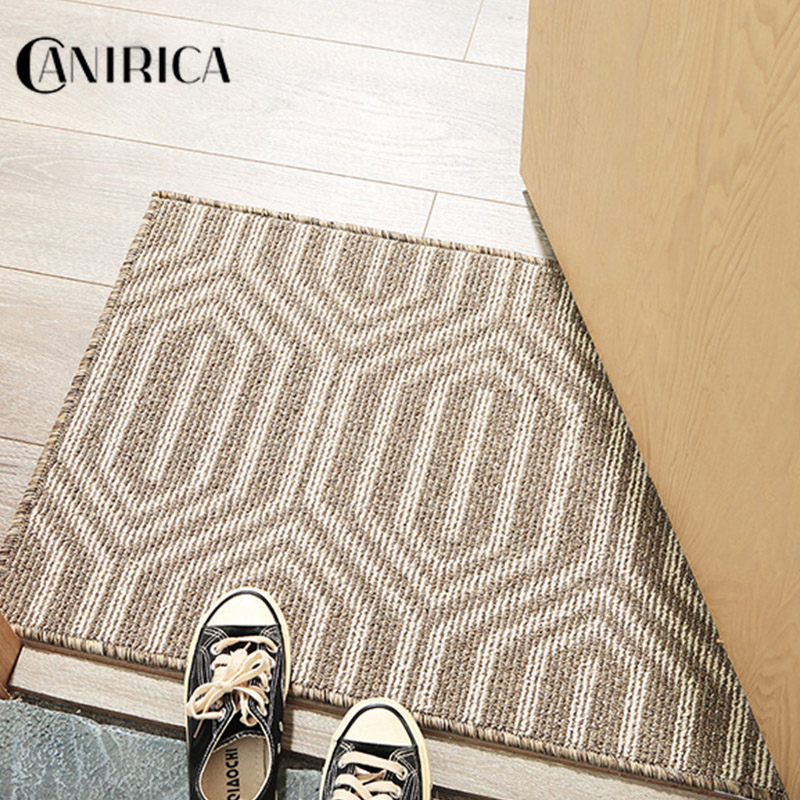 CANIRICA Doormat Modern Carpets For Hallway Kitchen Rugs Home Decorative Geometric Stair Floor Mats For Living Room Customized