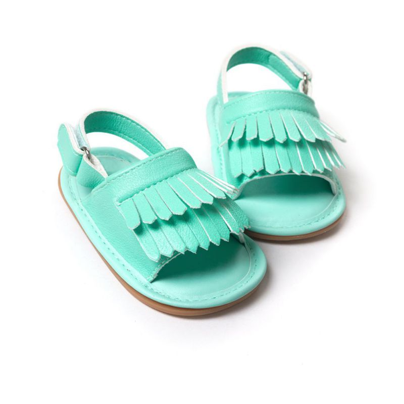 Hot Sale Baby Sandals Summer Leisure Fashion Baby Girls Sandals of Children PU Tassel Clogs Shoes 7 Colors L6 X5
