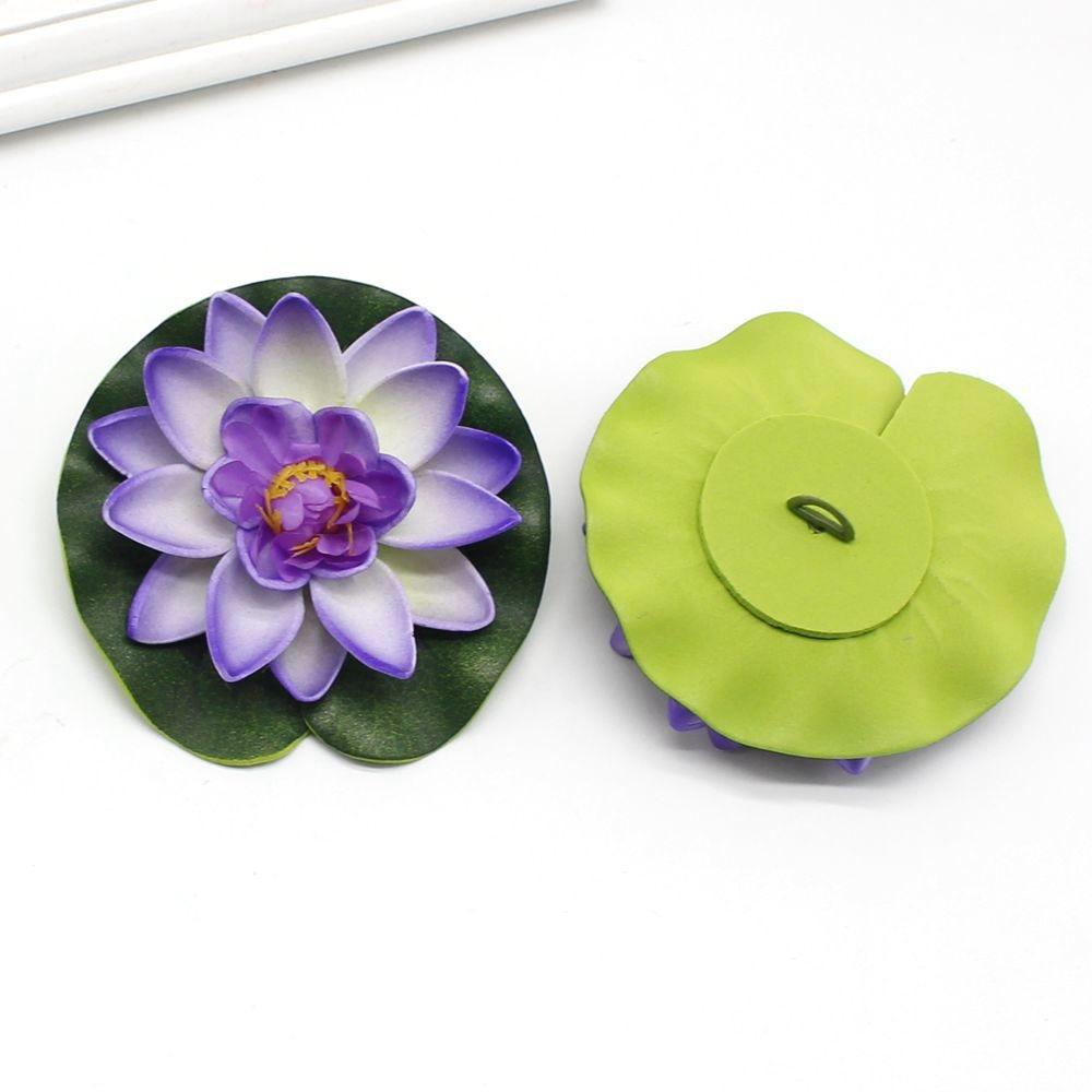 1pcs 10cm Real Touch Artificial Lotus Flower Foam Lotus Flowers