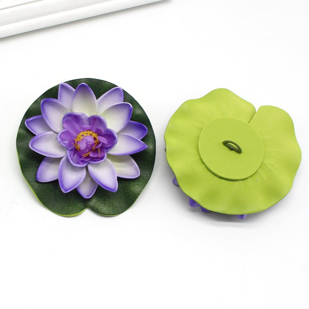 Floating lotus flower promotion shop for promotional floating 1pcs 10cm real touch artificial lotus flower foam lotus flowers water lily floating pool plants wedding garden decoration dhlflorist Gallery