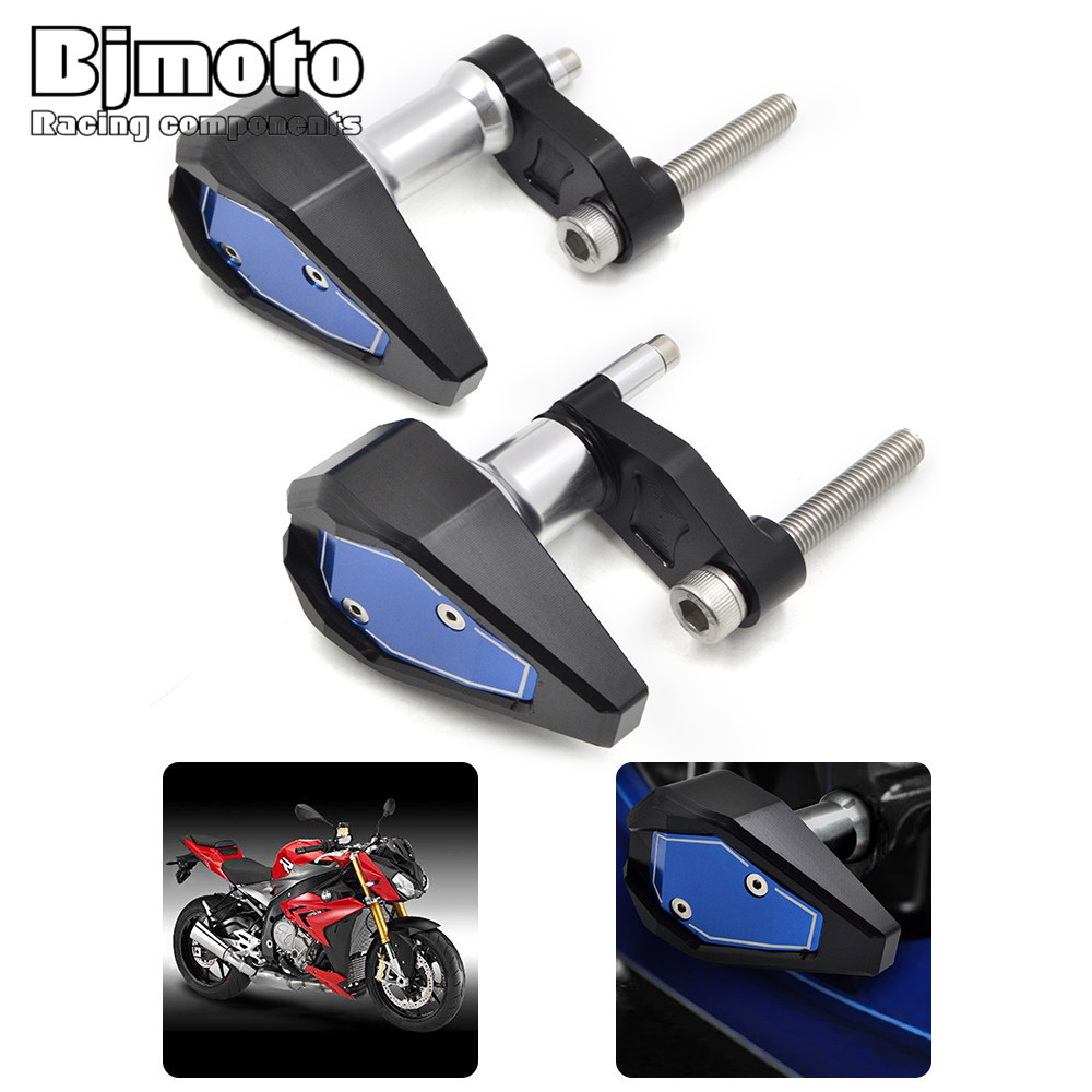 bjmoto CNC Motorbike Motorcycle Left Right Frame Slider Crash Protector Guard Cover for BMW S1000RR HP4 2010 2011 2012 2013 2014 bjmoto cnc aluminum motorbike accessaries motorcycle engine guard cover pad for kawasaki z1000 r 2010 2011 2012