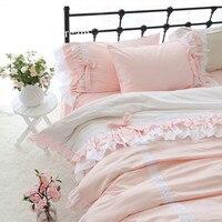 Очень милая постельных принадлежностей элегантный Луки дизайн детей постельных принадлежностей принцессы пододеяльник Романтический для