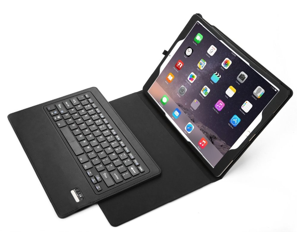 best sneakers 1b8a3 9c4b7 US $570.0 |Detachable Removable Wireless Bluetooth ABS Keyboard +PU Leather  Case Stand Cover For Apple iPad Pro 12.9'' Tablet keyboard-in Tablets & ...