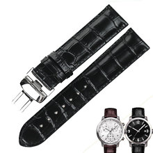 ISUNZUN Both Men And Women WatchBand For Tissot T055 Watch Band PRC200 T055410A/417/430 Male Watch Genuine Leather Watch Strap цена и фото