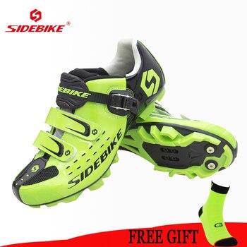 Sidebike mountain bike QUENTE sapatos sapatos de equitação não-slip-resistente ao desgaste ao ar livre esportes sapatos de bloqueio de bicicleta