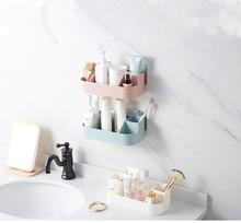 1PC Kitchen Storage Shelf Bathroom Wall Rack Organizer Toilet Toothbrush Holder Bottom Drainer for Home OK 0703