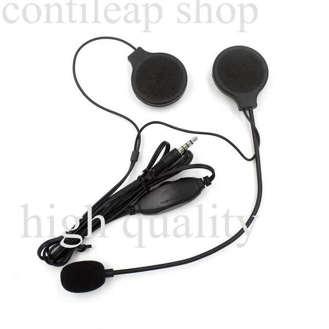 Mini 3.5mm Jack Microfone do Capacete Da Motocicleta fone de Ouvido para o telefone