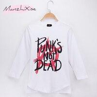 2018 Kids Clothes Children T Shirts Full Punk S Not Dead 100 Cotton Child Boys Long