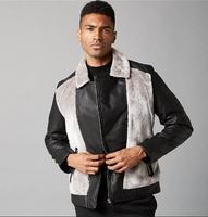S 2XL Splicing Leather And Cotton Garment Men S Body And Wool Coat Coat And Cotton