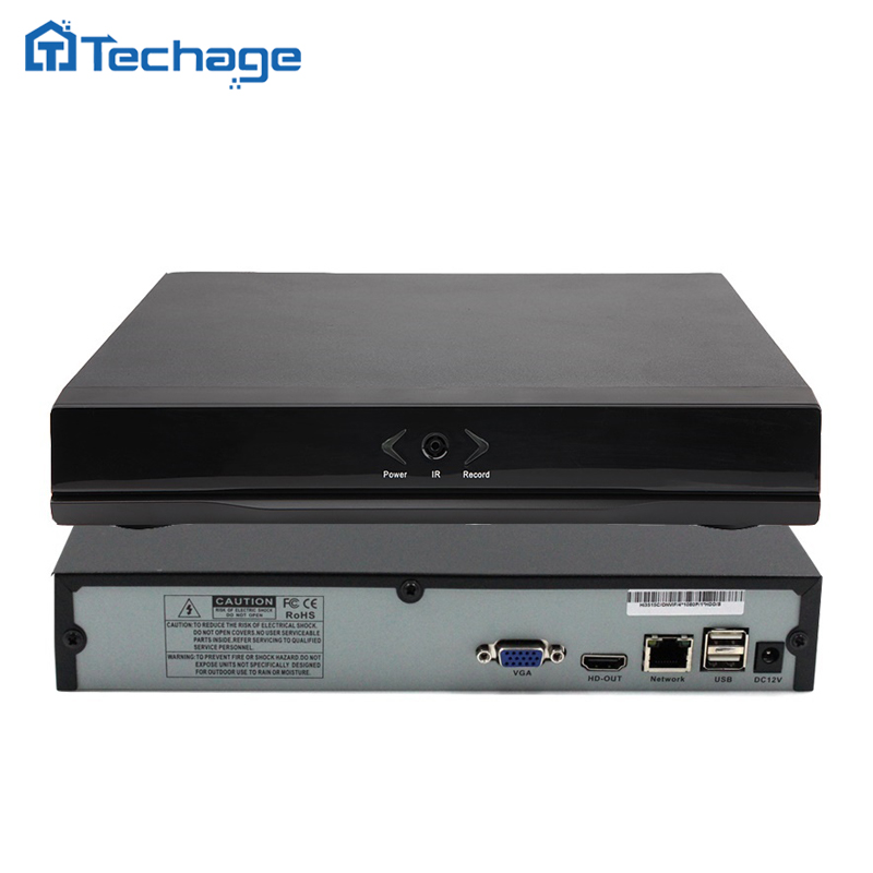 Techage 8CH 1080P Mini NVR Full HD 8 Channel Security CCTV NVR ONVIF P2P Cloud Network Video Recorder For IP Camera System