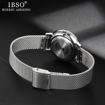 IBSO Women Quartz Watch Set Crystal Design Bracelet Necklace Watch Sets Female Jewelry Fashion Silver Luxury Watch Lady's Gift 2