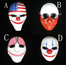 Payday 2 Mask Dallas mask/Wolf/Chains/Hoxton cosplay halloween horror clown mask payday masqueradeCarnaval Costume men