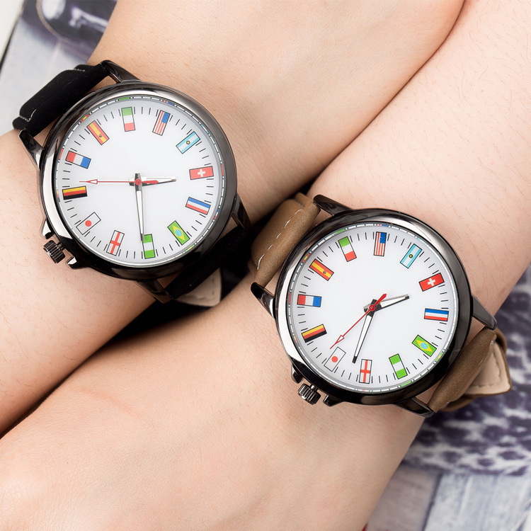 compare prices on watches usa online shopping buy low price hot new usa swiss flags dial leather quartz wristwatches wrist watch for men