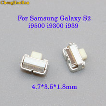 ChengHaoRan 10pcs Power Volume Switch on off inside Button For Samsung Galaxy S2 S3 S4 i9500 i9300 i939 i747 D71 4.7*3.5*1.8mm мобильный телефон samsung i939 galaxy s3