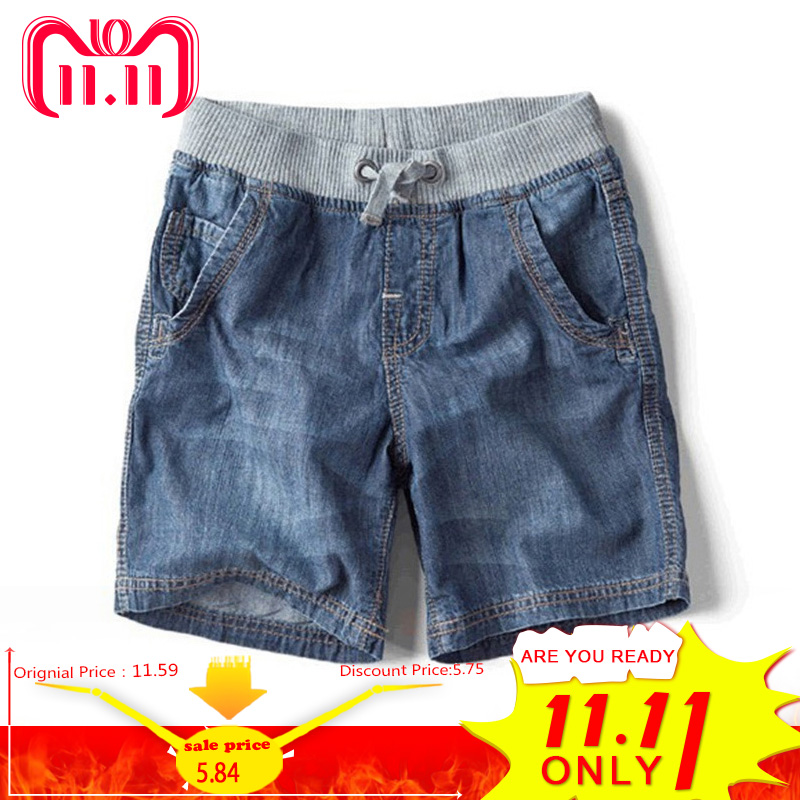 The New Children's Summer Children's Brand Jeans Denim Shorts 2014 Hot Fashion Boy Shorts retro design summer men jeans shorts summer style black color destroyed ripped jeans men shorts white wash stretch denim shorts