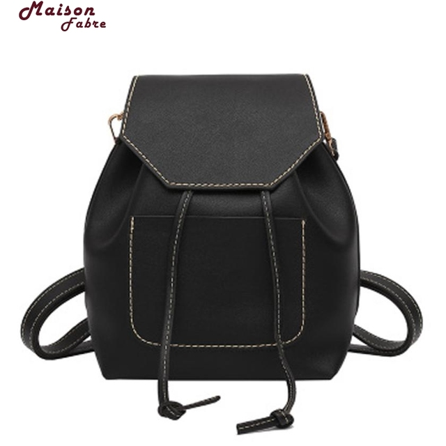 554ba2e41b Maison Fabre Backpack Women Fashion Leather Travel Satchel Pendant School  Bag Backpack Bag Drop Shipping 2018m21