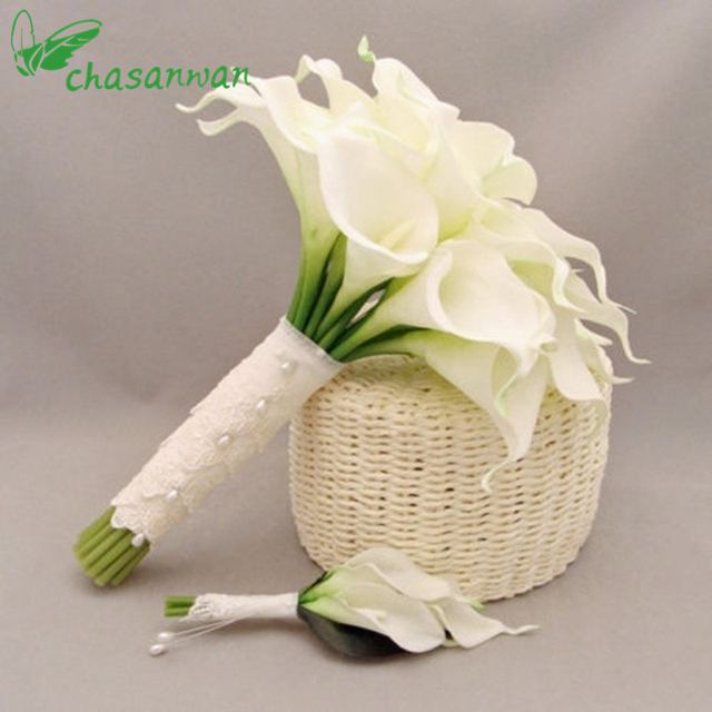 Aliexpress.com : Buy 10PCS White Flowers Artificial Latex Calla Lily ...