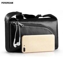 leather Mens bag shoulder  mens and womens satchelSoft rossbody Bag Horizontal Square Cowhide Shoulder