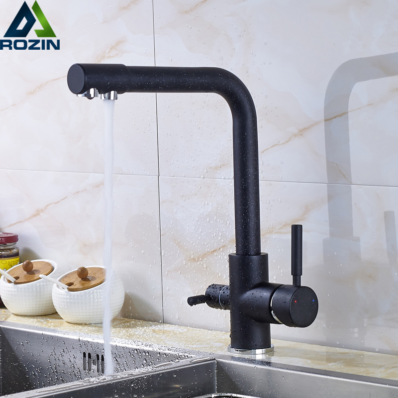 Purification Kitchen Faucets Deck Mounted 360 Degree Rotation Mixer Tap One Hole Hot and Cold Mixer Tap Crane For Kitchen