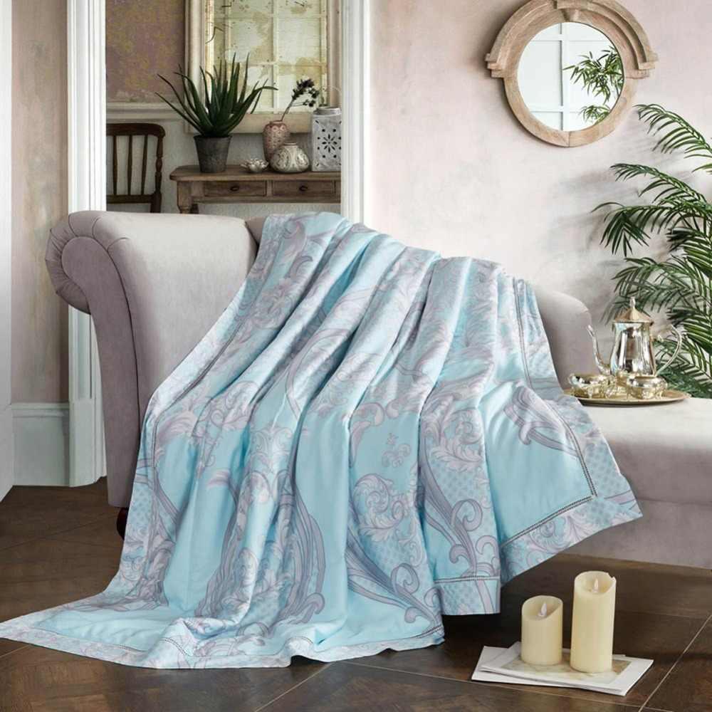 2019 богемное голубое желтое стеганое одеяло, мягкое стеганое одеяло, искусственный шелк, полиэстер, наполнитель, королева король, летнее одеяло
