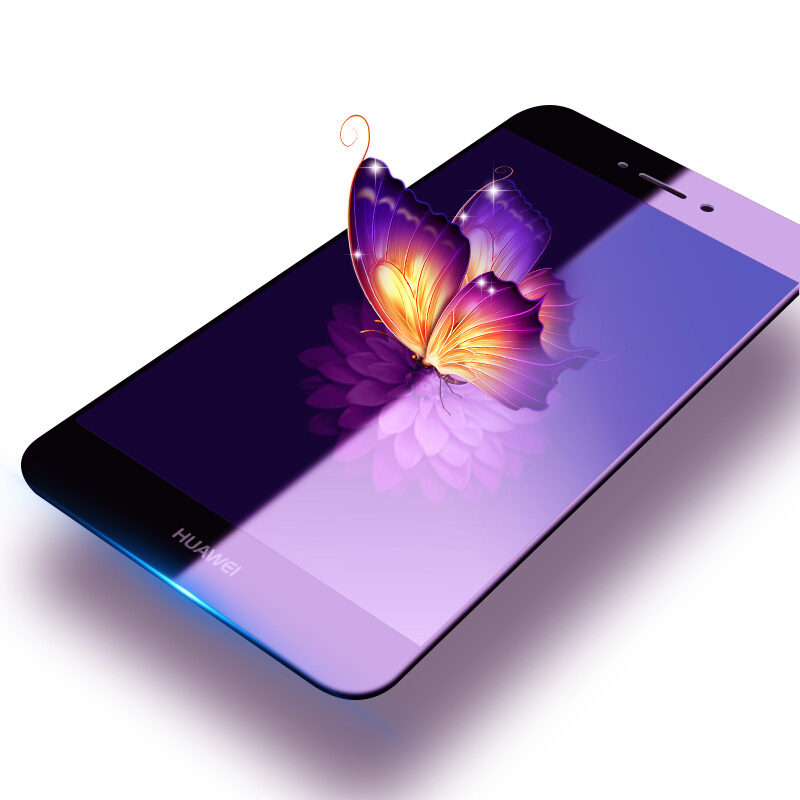 9H 2.5D Tempered Glass For Huawei Honor 6C Screen Protector Anti Blu-ray Glass Protective Film For Huawei Honor 6c 5.0 Inch