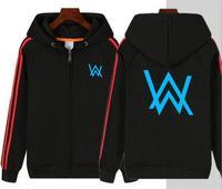 New cotton loose Allen Walker DJ zipper hoodie Alan Walkerd hoodie electric men and women hooded jacket