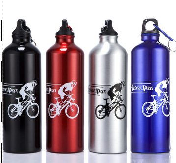 700 ml bike riding sports outdoor kettle Bicycle water bottle Send mountaineering buckle aluminum kettle ...