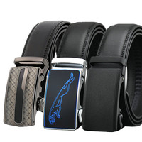LannyQveen Fashion Cow Leather Belt Men S Automatic Buckle Belts For Men Business Good Quality Wholesale
