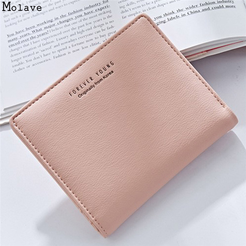 Fashion Women PU Leather Zipper Wallet Lady Portable Multifunction Small Solid Color Change Purse Female Clutch Carteras S1520