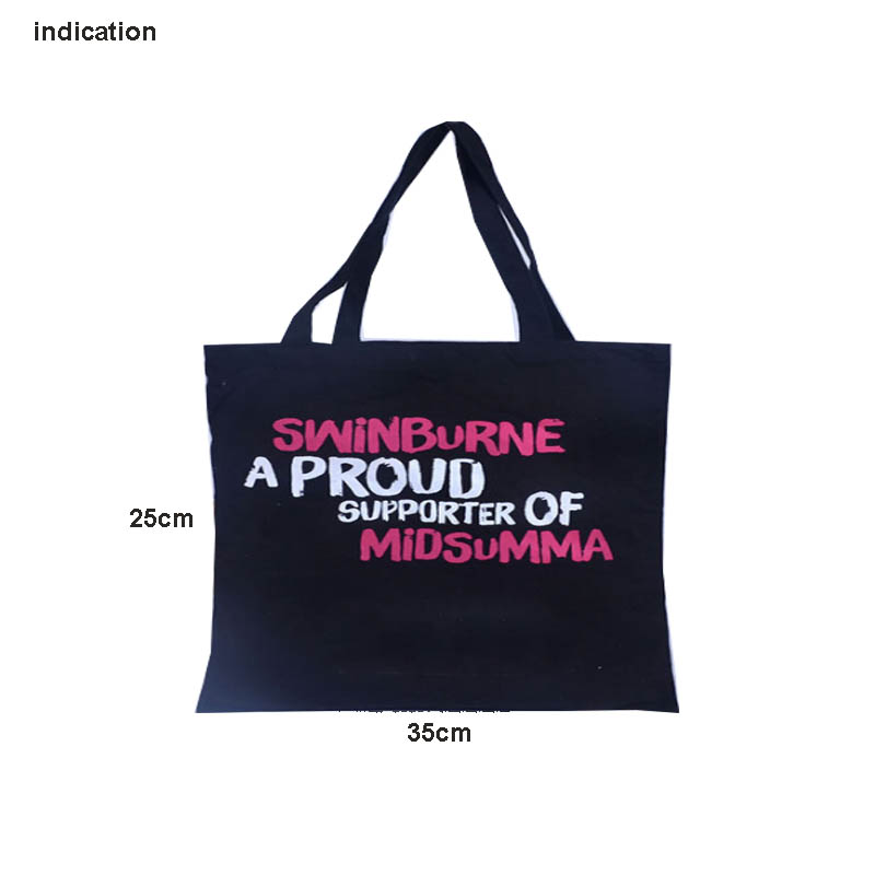 100 Pcs 35Cm*25Cm Colors Logo Printing On One Side Of Bag Customized Logo Company Eco Tote Bag Cotton Canvas Shopping Bags
