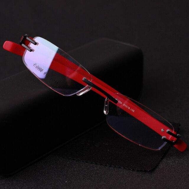 Hombres Mujeres Marcos de Anteojos Marcos de Gafas Sin Montura Moda Gafas Monturas de gafas Marco Miopía Gafas Gafas De Grau CJ-3356