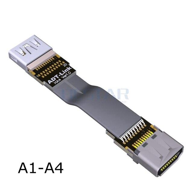 A1-A FPV HDMI 2.0 TypeA mâle à HDMI vers le bas angle mâle femelle HD 4 K/60Hz FPC câble plat pour FPV sans brosse à main cardan Servo