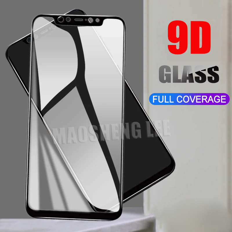 New 9D Tempered Glass For Xiaomi Redmi Note 7 6 Pro Screen Protector Full Cover tempered glass For Xiaomi Pocophone F1 glass redmi note 7 pro cover