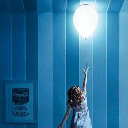 Children's room Decor droplight Balloons hanging lamp Ceiling Mounted Kids pendant lighting glass lampshades Milky ball