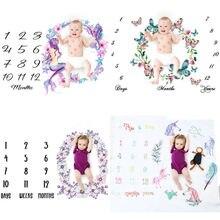 Покрывало для фото новорожденных, 5 цветов, крылья ангела, Хлопковое одеяло с цветочным рисунком для маленьких девочек и мальчиков, для фотосессии